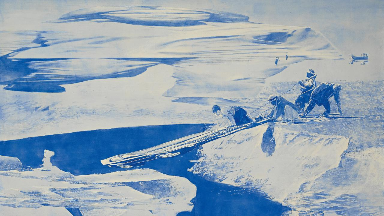 The SUV and the Sphinx: Mark Tansey\'s \'Study for Push/Pull\' | Sotheby\'s