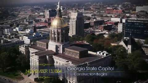 Georgia State Capitol Construction Begins