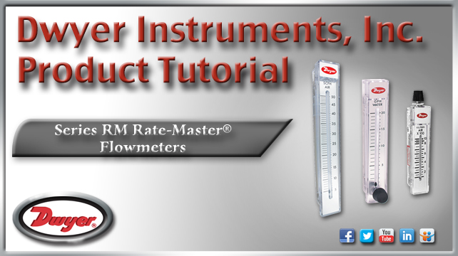 Dwyer Rate-Master Series RM Flowmeter Range 0.5-5 LPM Air with Stainless Steel Valve 2 Scale