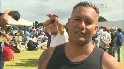 Video for Māori men compete in Kabaddi event