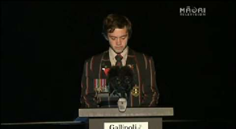 Video for Rotorua youth delivers powerful speech at Gallipoli ANZAC Service