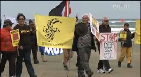 Video for March against Statoil deep sea oil drilling reaches Dargaville