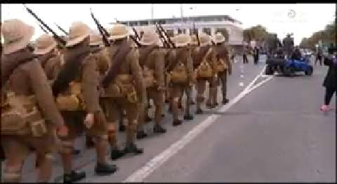 Video for Grand re-enactment for opening of C Company Memorial House