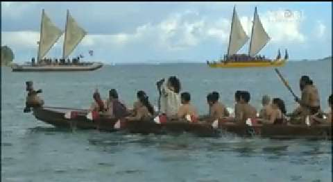 Video for Ōkahu Bay welcomes Pacific waka