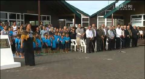 Video for Te Kura Māori o Waatea officially opened