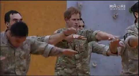 Video for Prince Harry performs the haka