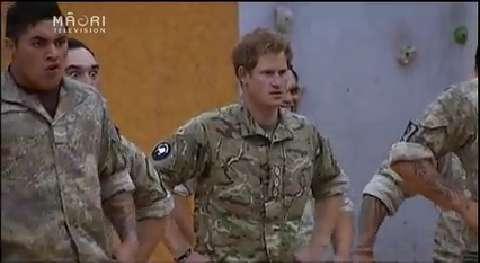 Video for Prince Harry performs haka and pulls up a hāngi