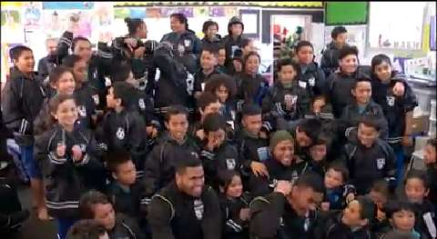 Video for KidsCan and NZ Warriors treat kids with free raincoats