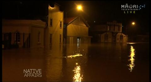 Video for Native Affairs - Whanganui Flooding