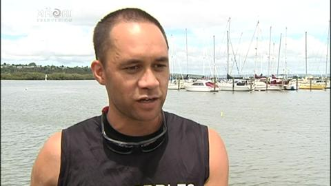 Video for NZ Men's elite Waka Ama team prepping for World Elite Sprint Championship