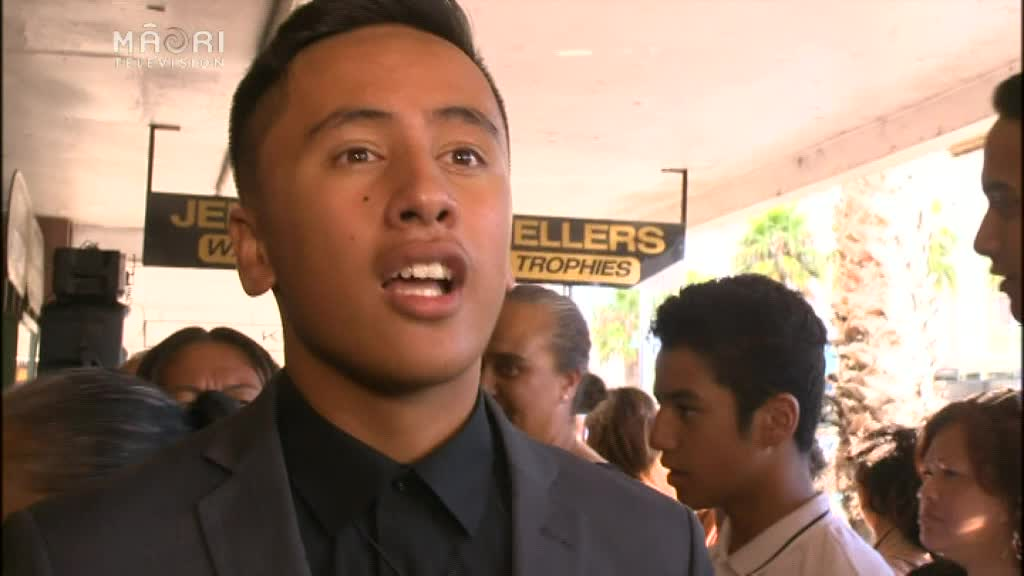 Video for Akuhata Keefe moved by hometown movie launch