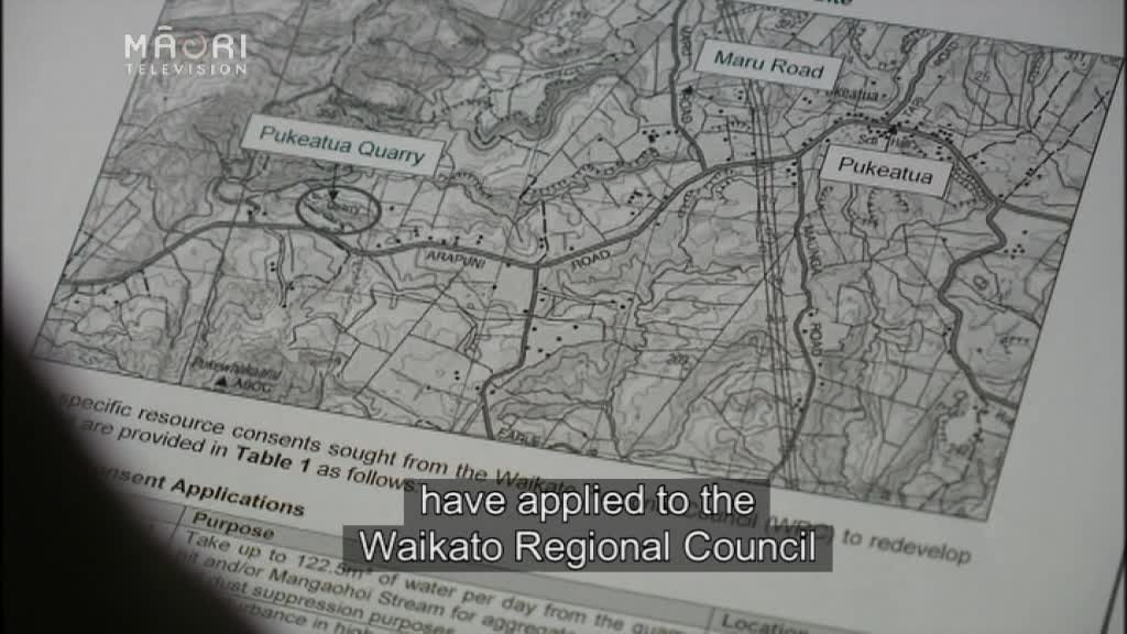 Video for Quarry owners dispute location of Pā site