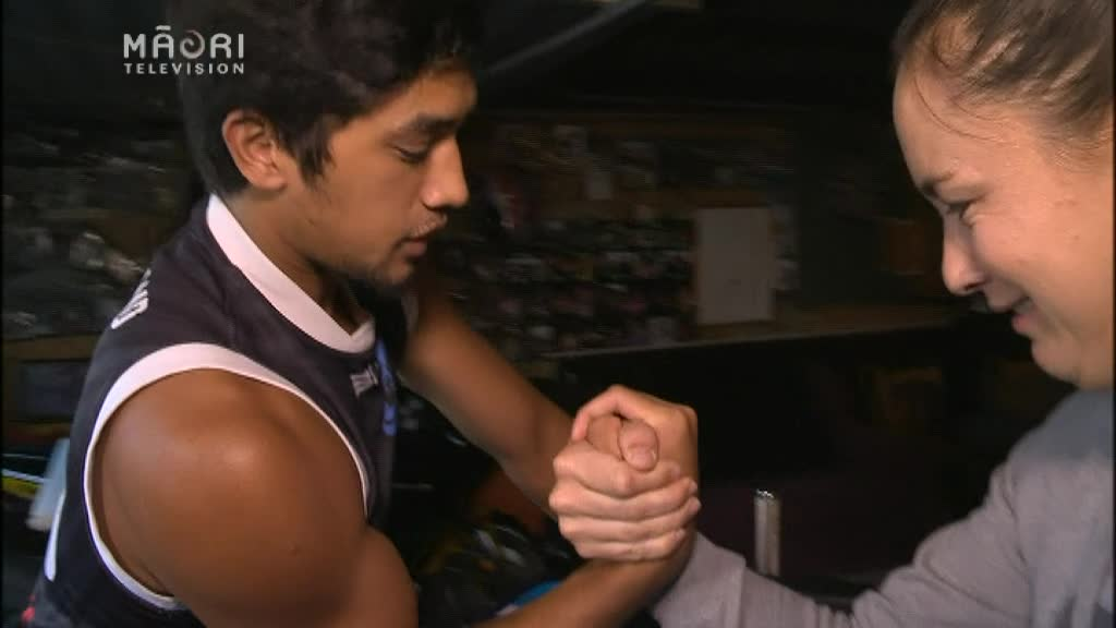 Video for Arm wrestling champ to change image of sport