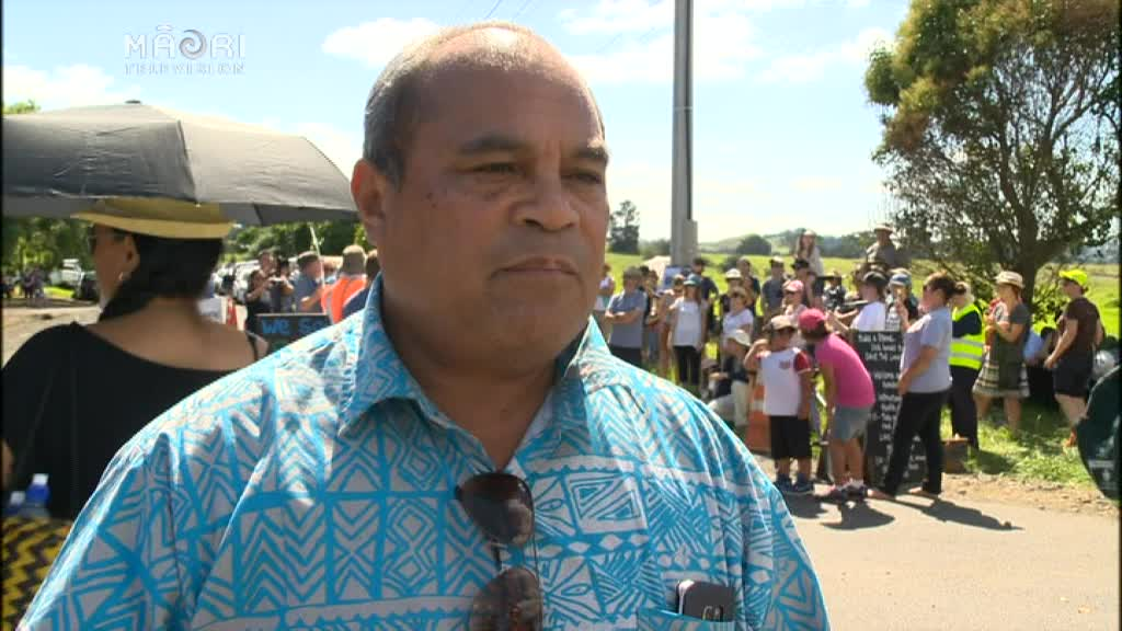 Video for Mangere community rally to protest development Ihumātao