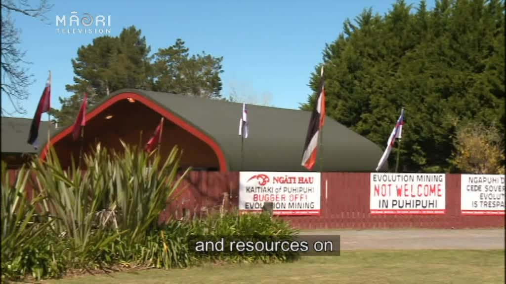 Video for Anti-mining groups gather in support of Ngāti Hau