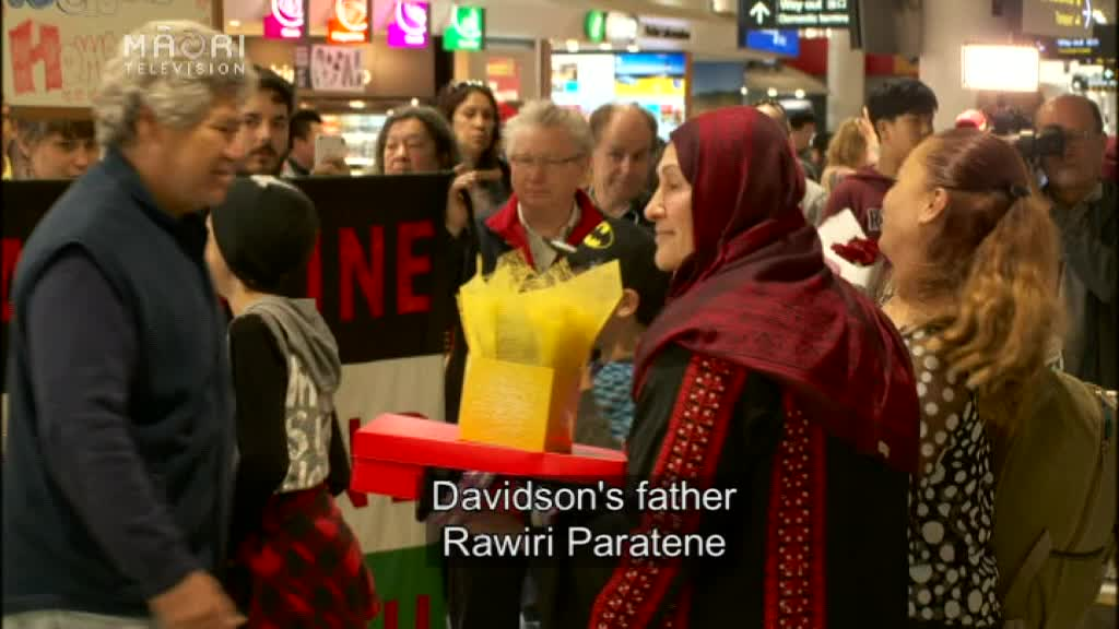 Video for Marama Davidson's father concerned if she decides to return to Gaza