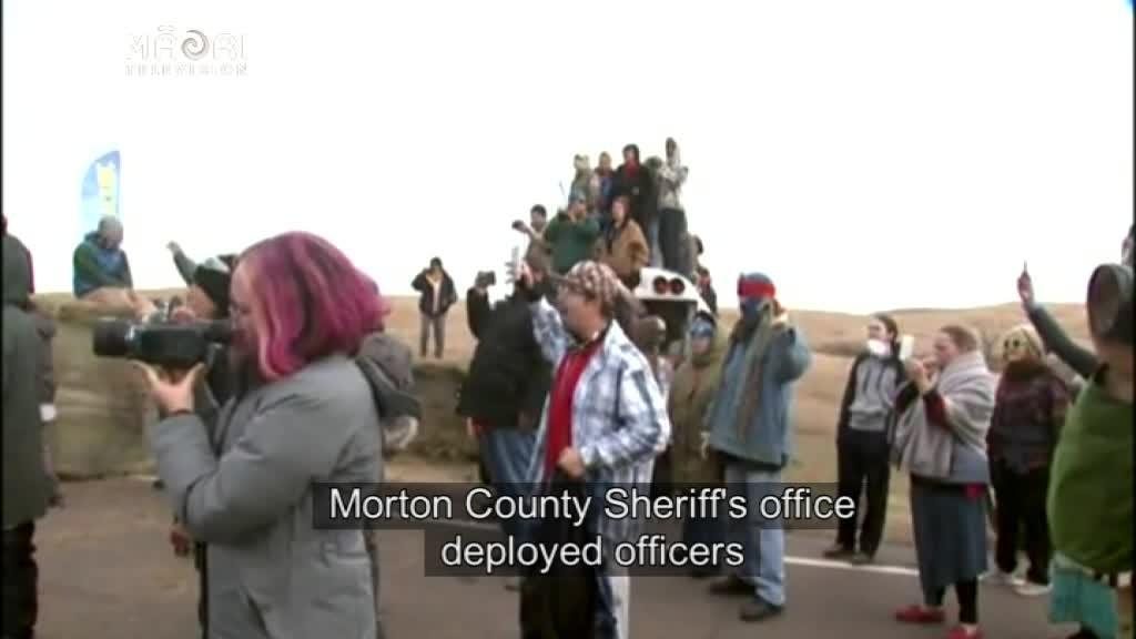 Video for Police and Military move in on Dakota Access Pipeline protesters