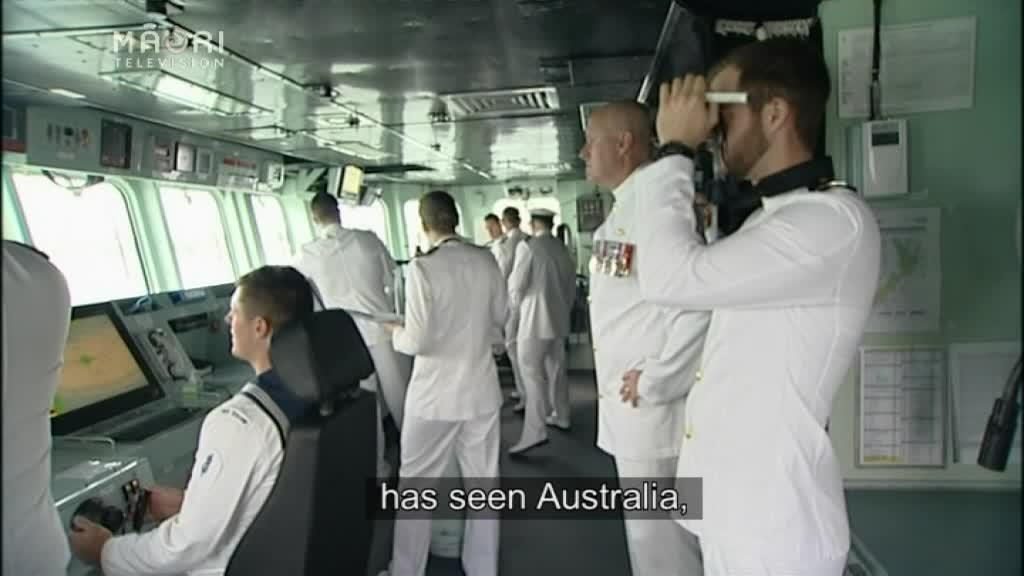 Video for NZ Navy put celebrations on hold to help earthquake victims