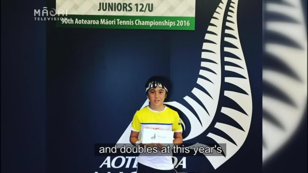 Video for 11-year-old Te Teko tennis champ meets Serena Williams