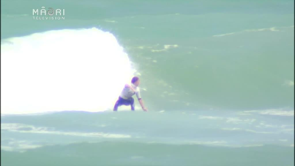 Video for Local knowledge helps Māori surfer into next round of National Surfing Champs