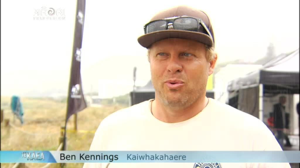 Video for Stand-up paddle board win in sight for Kereopa