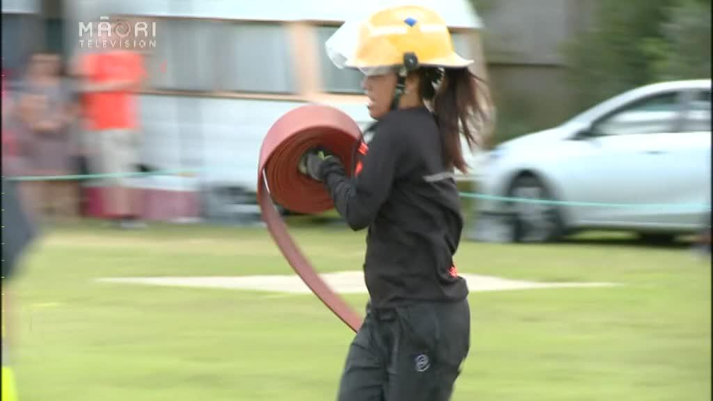 Video for Volunteer firefighters gather for National Waterways Challenge
