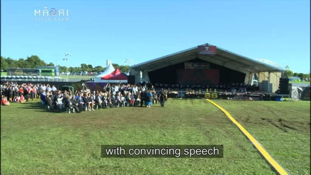 Video for Hori Pomana honoured at ASB Polyfest pōwhiri