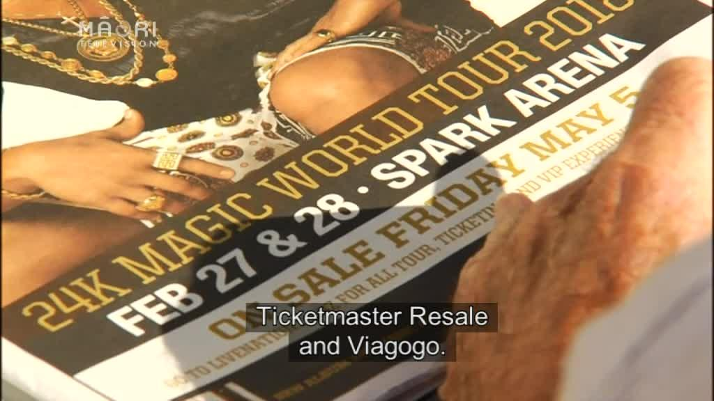 Video for Bruno Mars fans warned against dangers of ticket scalping