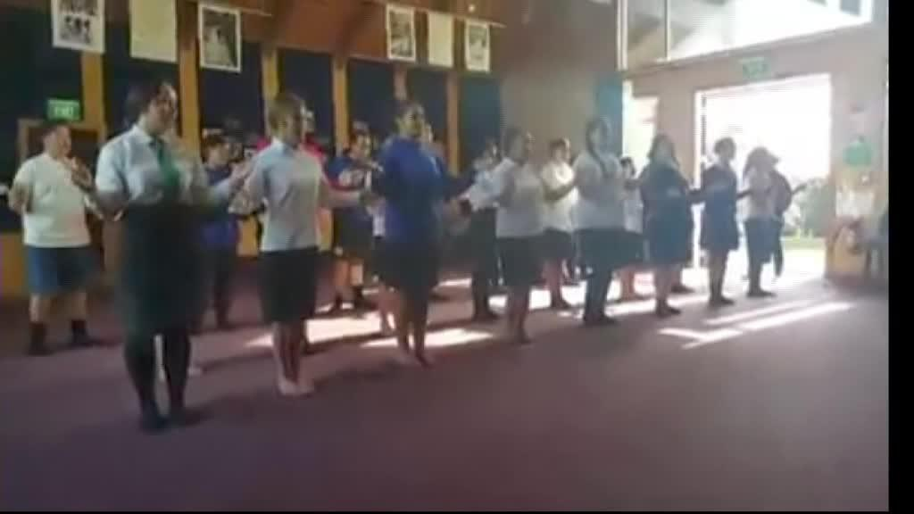 Video for Taranaki schools combine to compete at regional kapa haka compeition