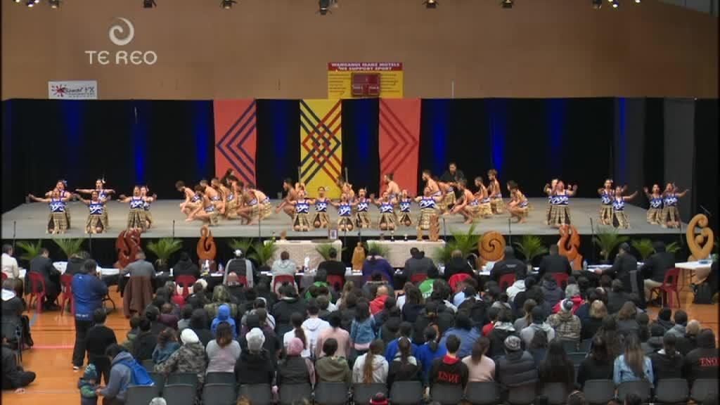 Video for Aotea kura take stage for kapa haka regionals
