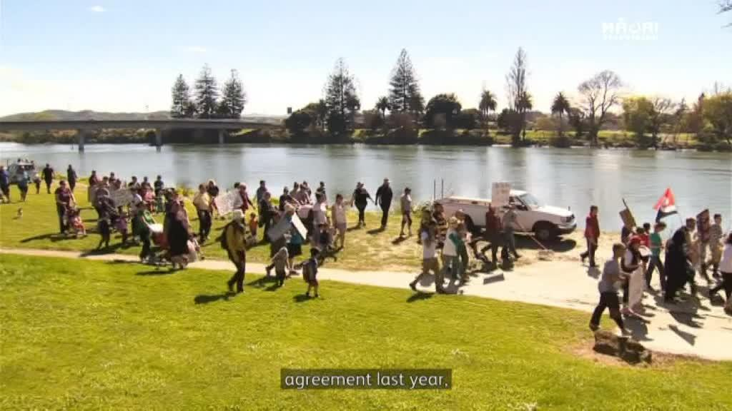 Video for Wairoa protests paru river
