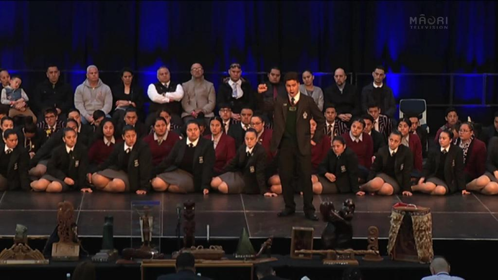 Video for Juniors battle it out on the Ngā Manu Kōrero stage