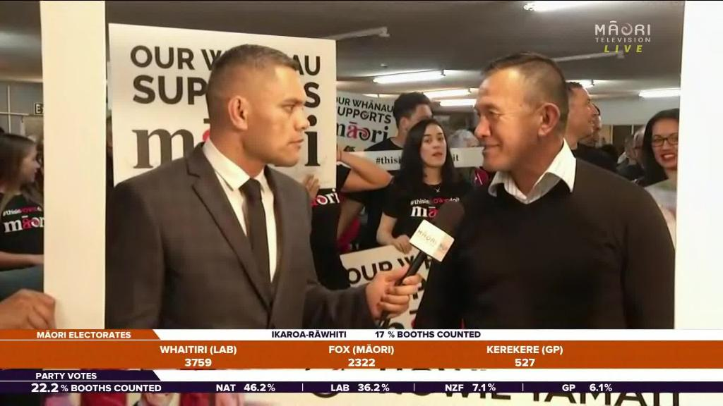 Video for Howie Tamati happy with campaign and surrounded by supporters