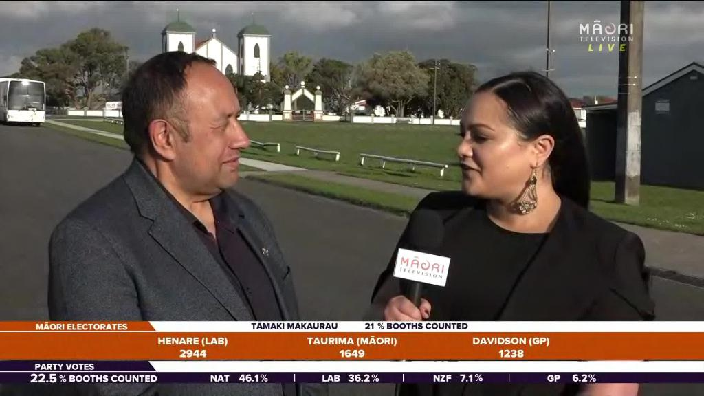 Video for Adrian Rurawhe ahead of competitors in Te Tai Hauāuru