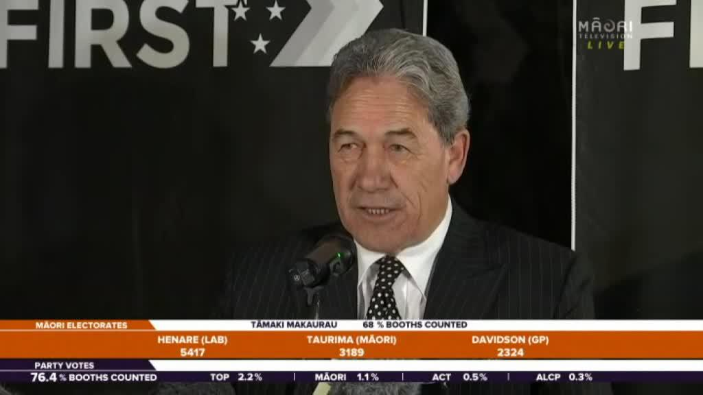 Video for Winston Peters refuses to be hasty in coalition talks