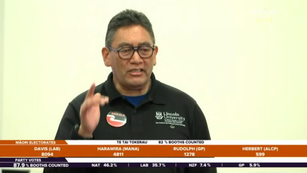 Video for Hone Harawira thanks supporters but refuses to concede