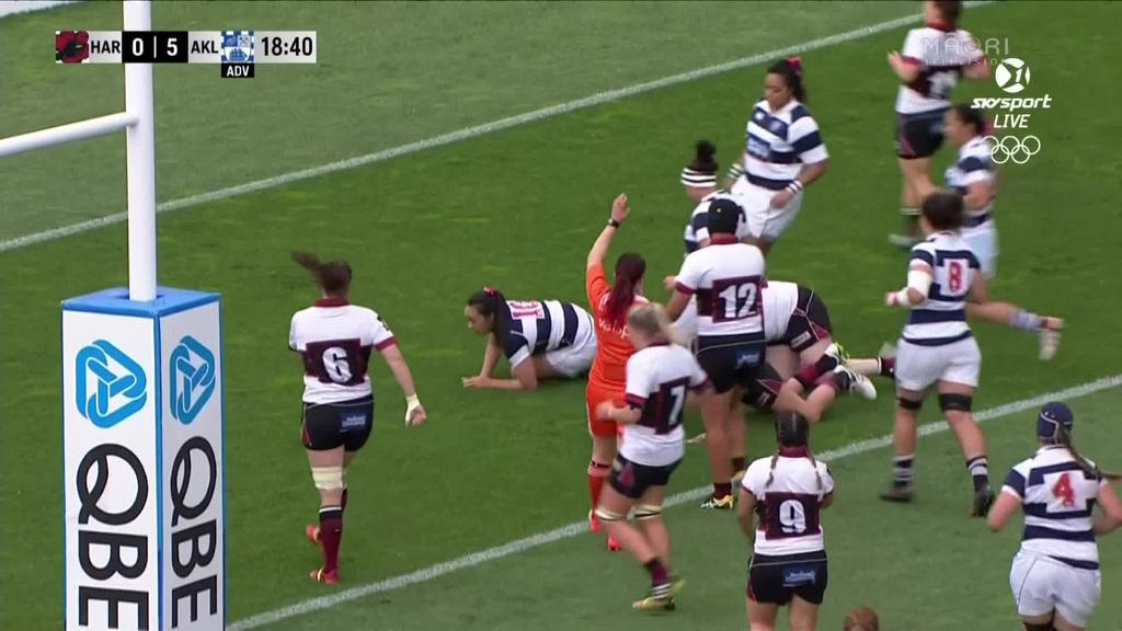 Video for  Fiao'o Fa'amausili celebrates her 100th game for Auckland with a win