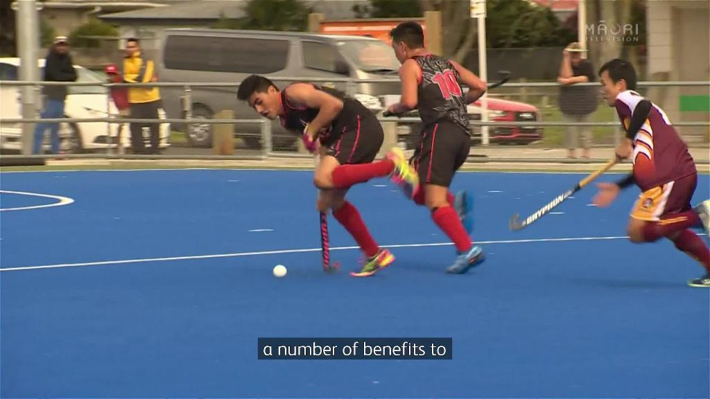 Video for It was all on out on the hockey pitch