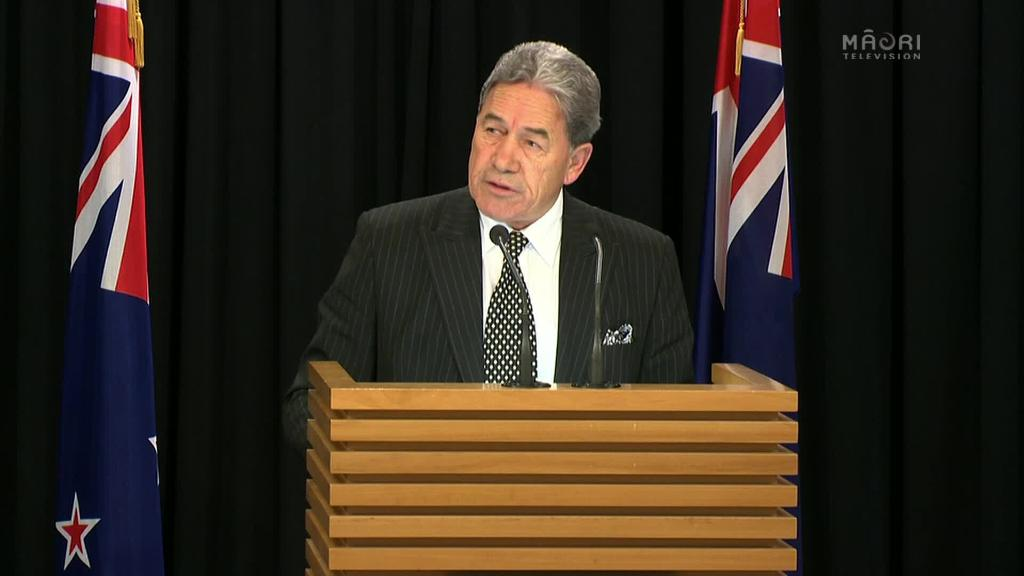 Video for Winston Peters full announcement on NZ's new government