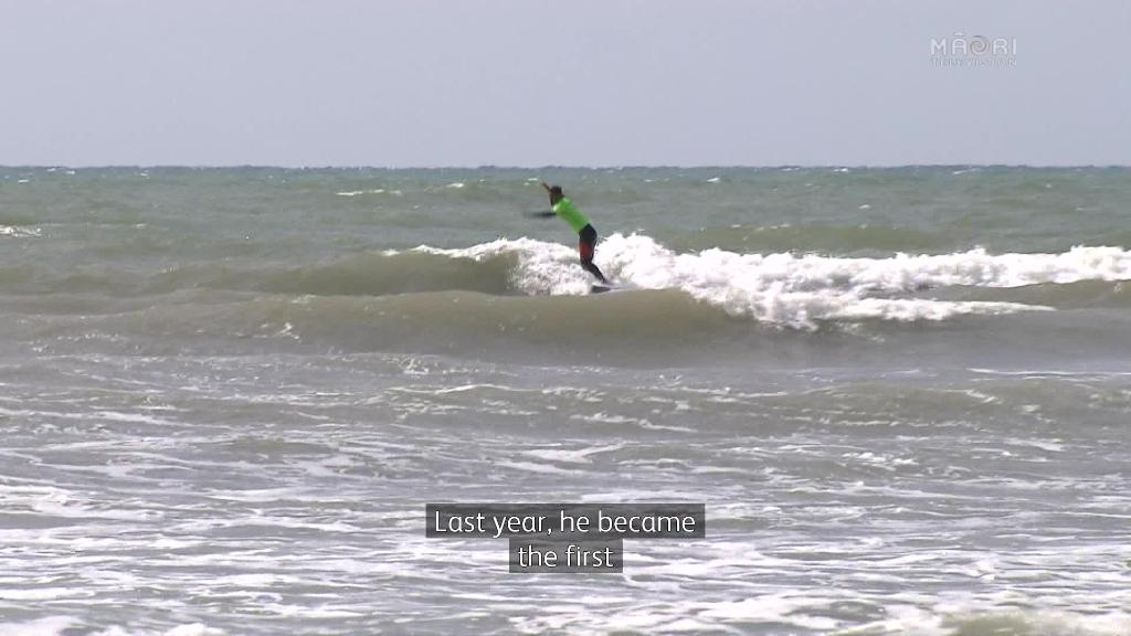 Video for Father and son in National Māori Surfing  finals