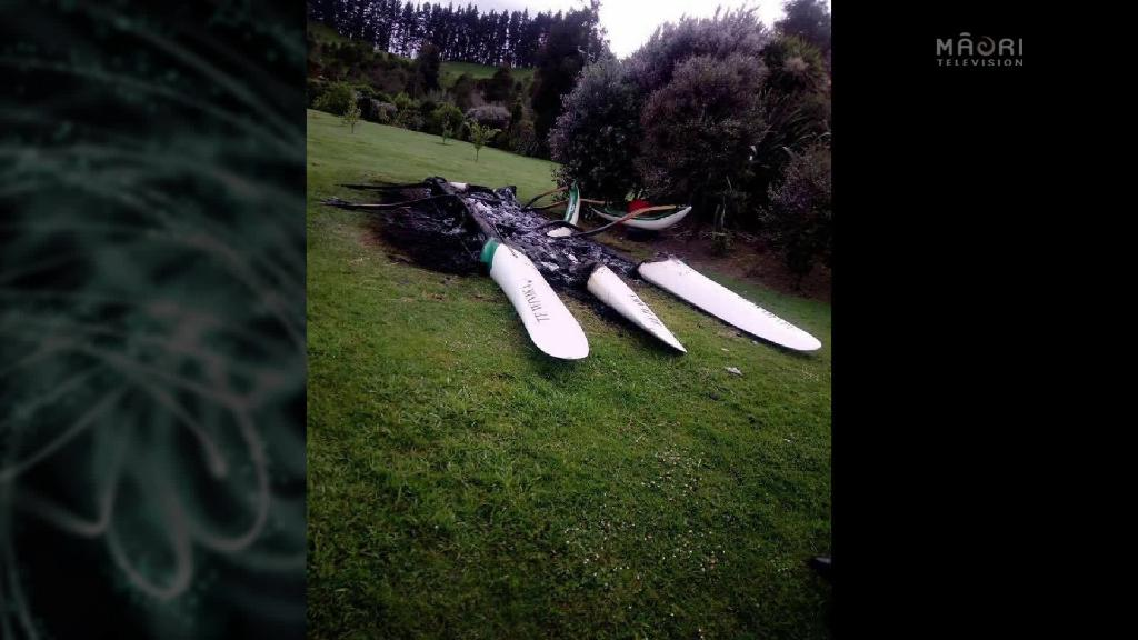Video for Paddlers devastated as outriggers set alight
