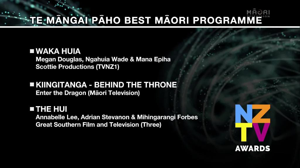 Video for Top Māori programming up for honours at 2017 NZTV Awards