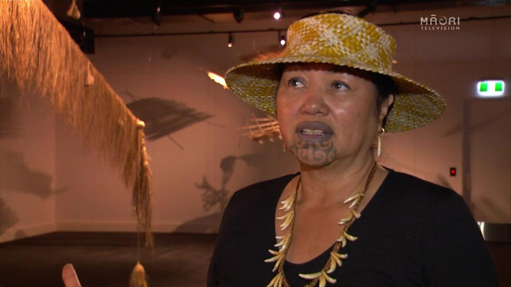 Video for A house made out of raupo (flax) and exhibited in Whakatāne