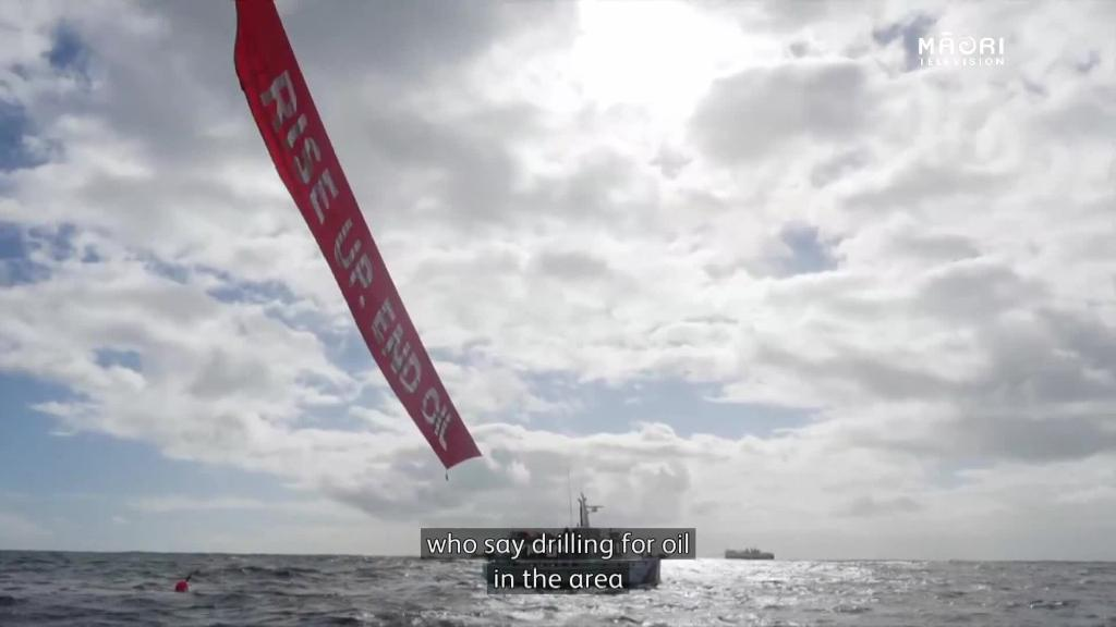 Video for Peaceful protest in Taranaki opposes seismic surveying off West Coast