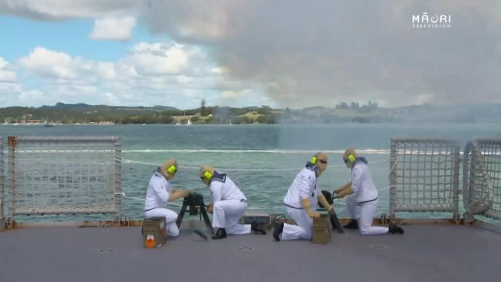 Video for Royal NZ Navy plays significant role in Waitangi Commemorations