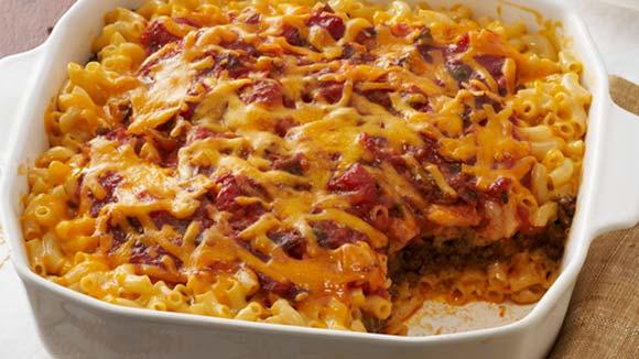 recipe: macaroni and cheese with ground beef casserole [32]