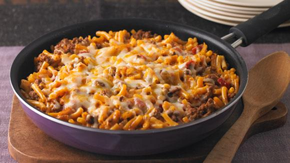 recipe: macaroni and cheese with ground beef casserole [23]