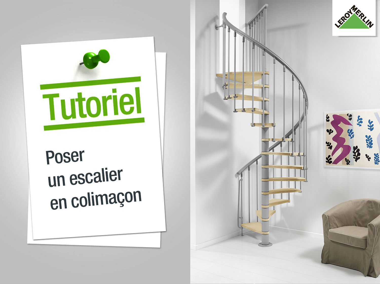 Comment poser un escalier en colima on leroy merlin - Creer un escalier interieur ...