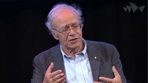 Peter Singer on why administration costs aren't a good way to judge charities (Carnegie Conversaions: Ideas for a Better Australia) - 1:00