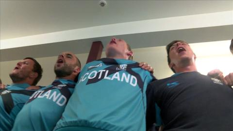 Scotland celebrates qualifying for ICC CWC 2015
